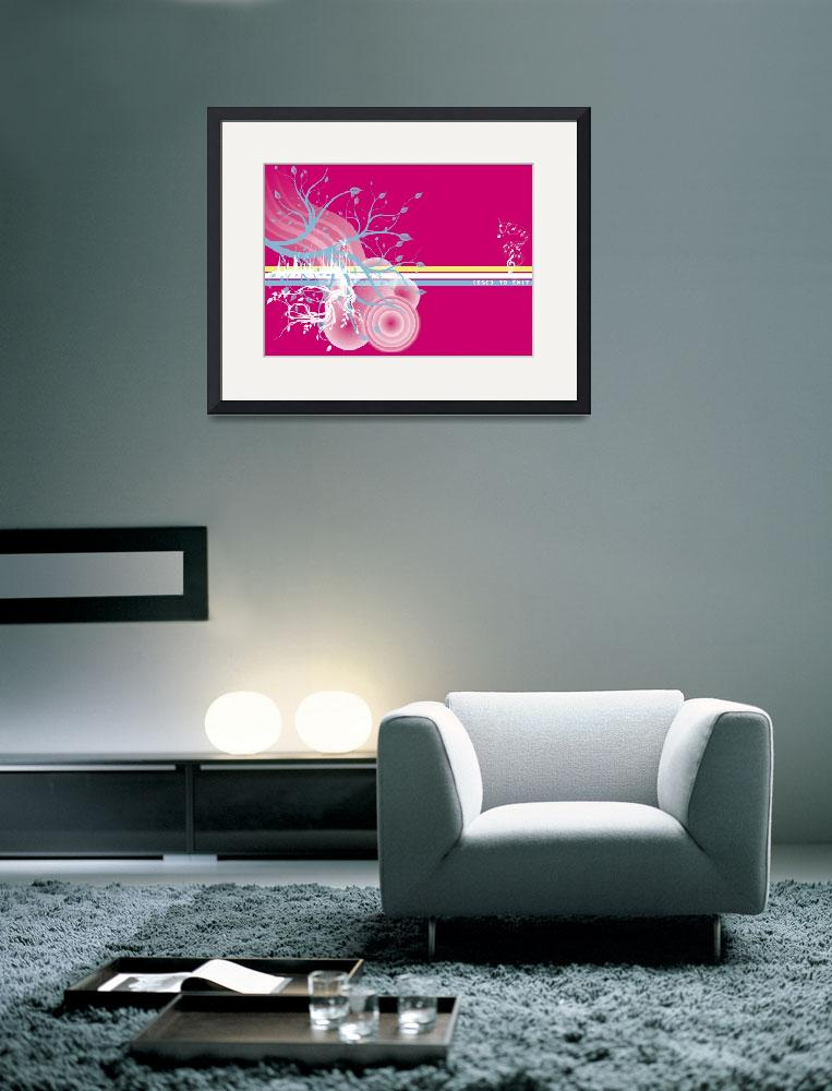 """Pink Escape&quot  (2009) by ssgraphics"