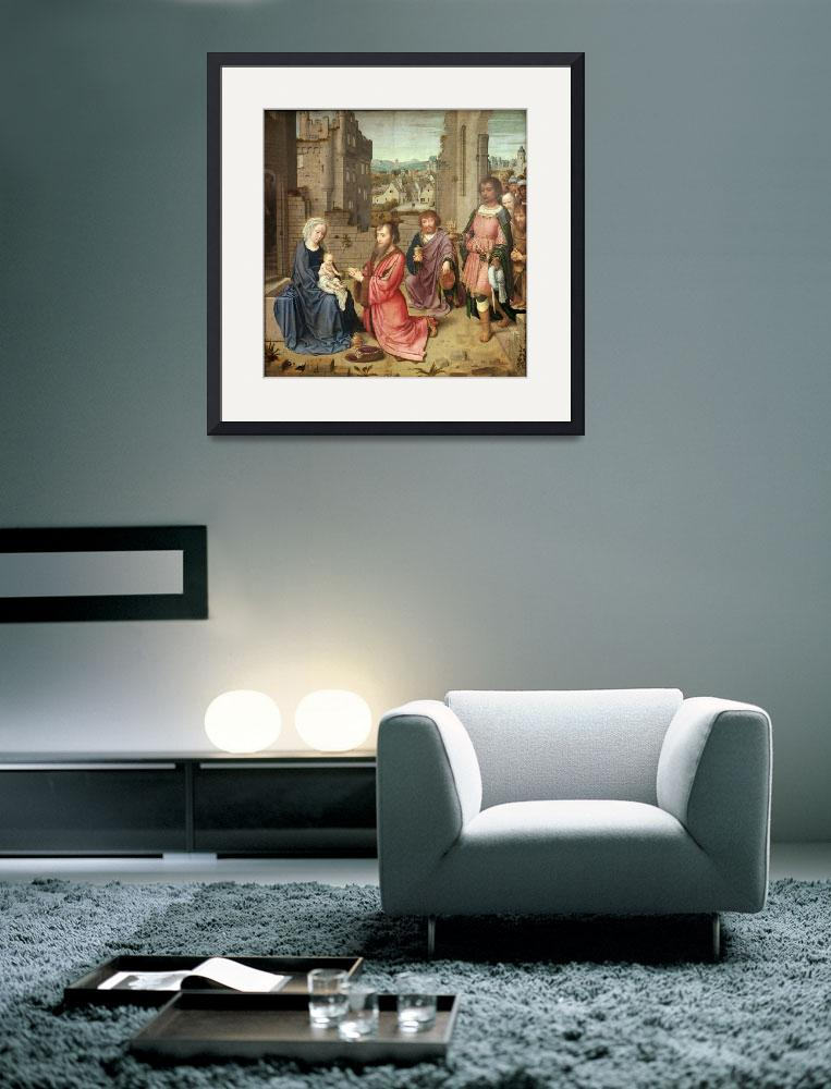 """""""Adoration of the Kings, 1515""""  by fineartmasters"""