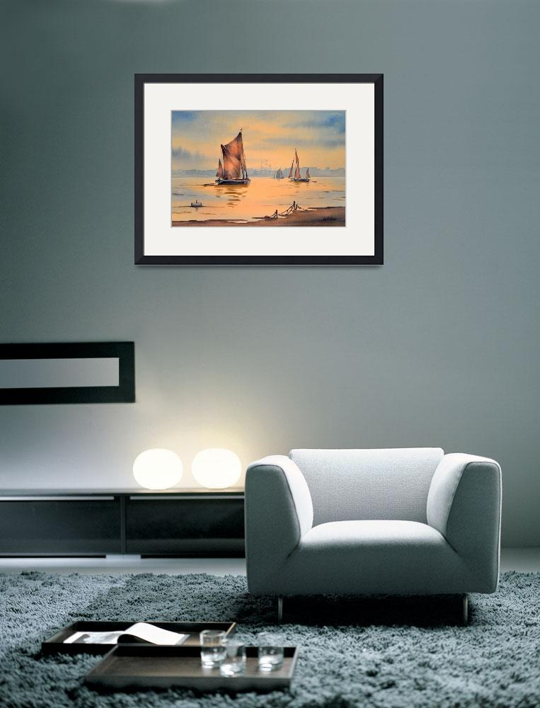 """""""Thames Barges At Greenwich London&quot  (2011) by billholkham"""