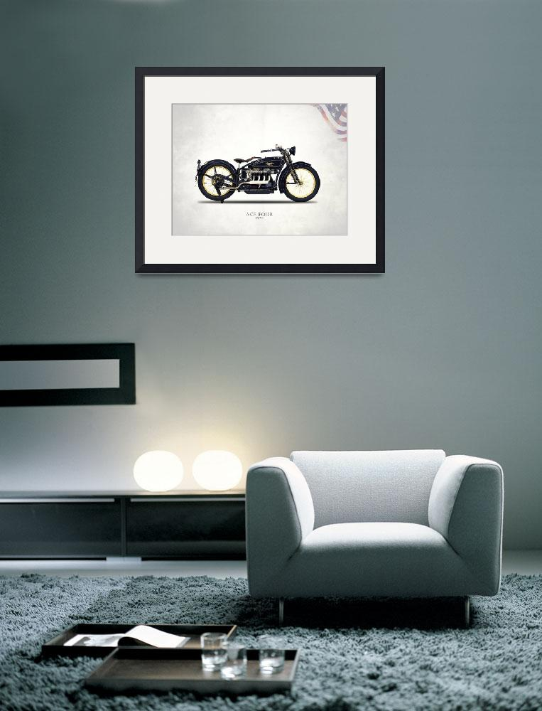 """The 1920 Ace Four Motorcycle&quot  by mark-rogan"