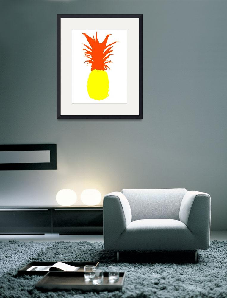 """""""Pineapple yellow red white (c)&quot  (2014) by edmarion"""
