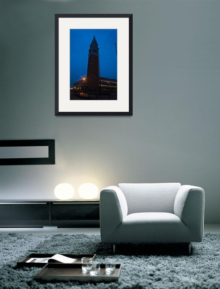 """""""Tower at Night&quot  (2007) by CLKAImages"""