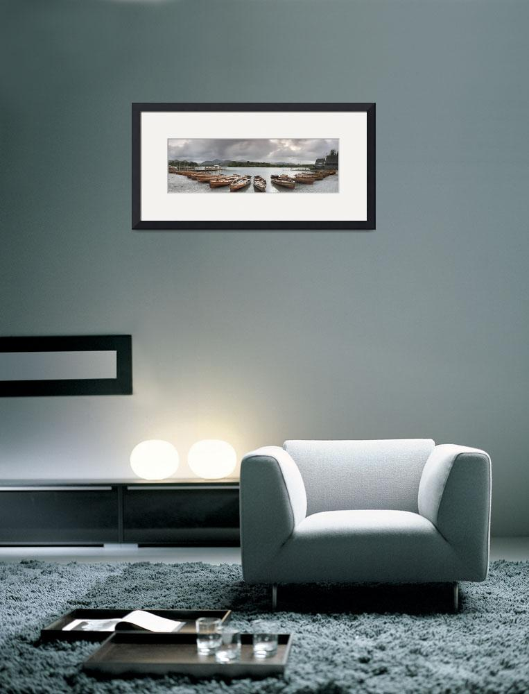 """""""Boats in a lake in Derwent Water&quot  by Panoramic_Images"""