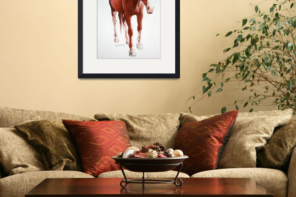 """""""Brown Horse&quot  (2007) by grantburke"""