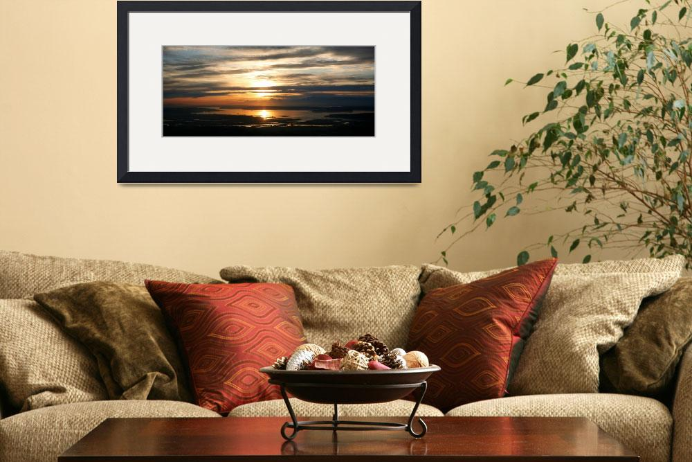 """""""Puget Sound Sunset&quot  (2009) by Fight2FlyPhoto"""