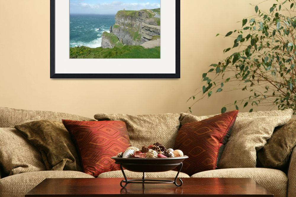 """""""Cliffs of Moher Castle""""  (2007) by Sawrah"""