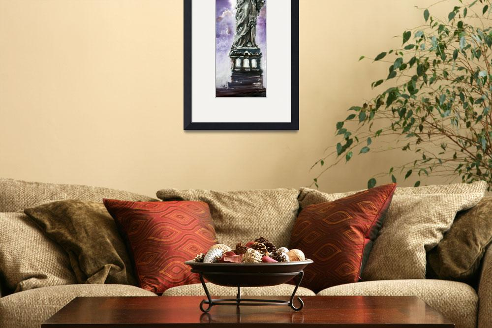 """""""Statue of Liberty Oil Painting&quot  (2014) by GinetteCallaway"""