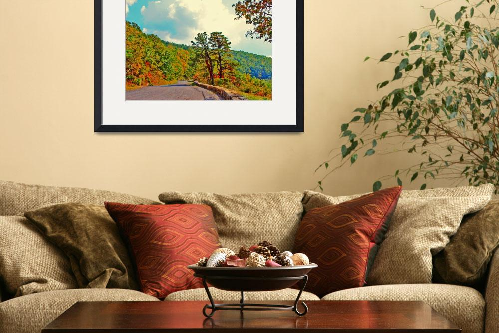"""""""Skyline Drive Road Fake HDR Bright Colors 8X10&quot  (2008) by brianyoung81"""