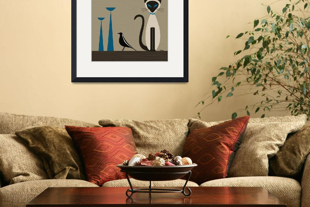 """""""Siamese with Eames House Bird&quot  by DMibus"""
