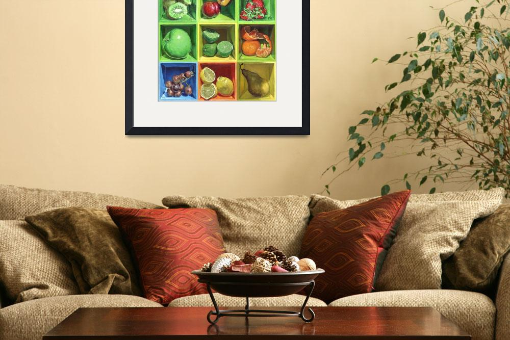 """""""Boxed Still Life: Fruit Series #1&quot  (2010) by soothedbyrainfall"""