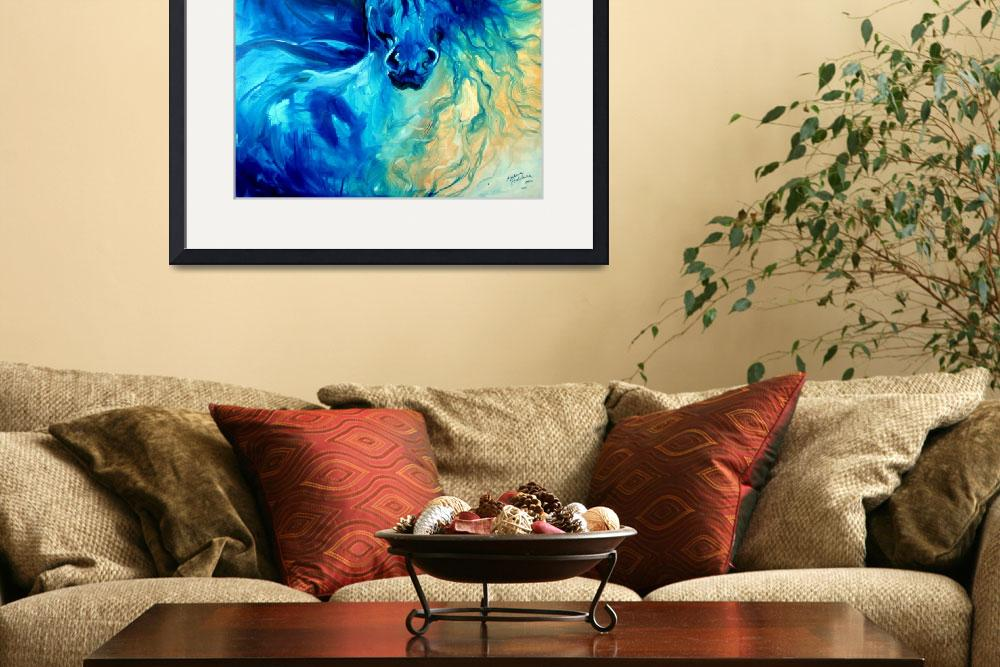 """EQUUS BLUE GHOST&quot  (2011) by MBaldwinFineArt2006"