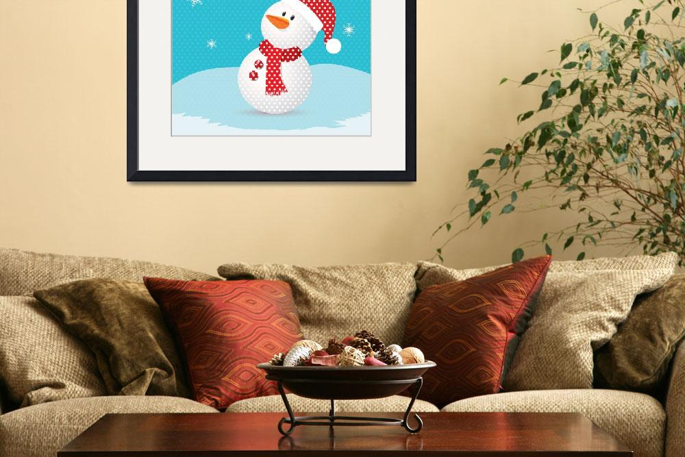 """""""Merry christmas with snowman retro""""  (2013) by ngocdai86"""