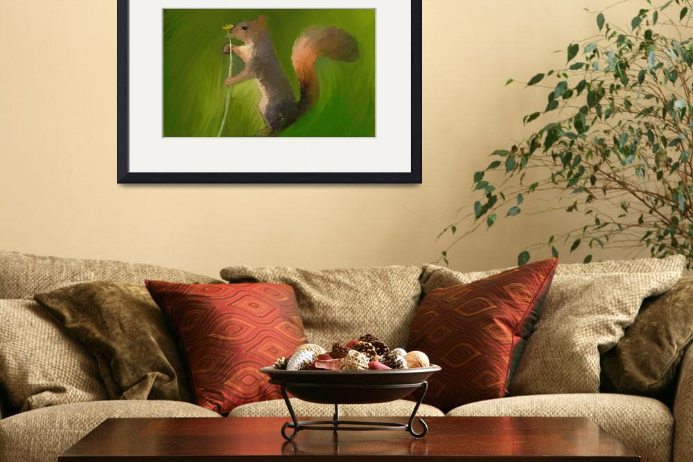"""""""Squirrel - Smelling the Flowers&quot  (2012) by ArtiKat"""