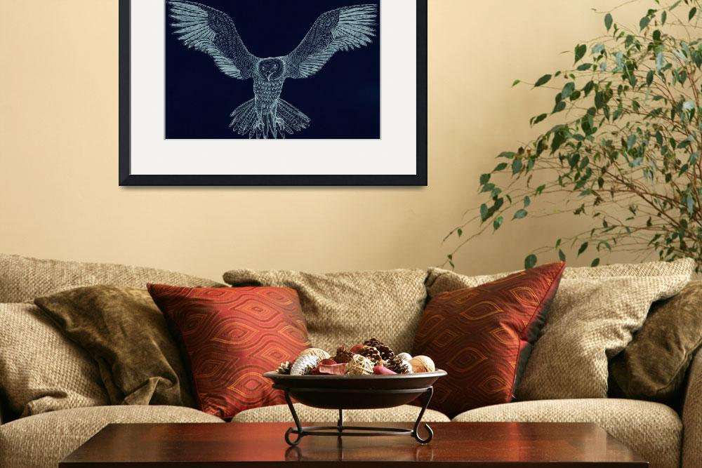 """flying eagle at night""  (2013) by WildfineART"