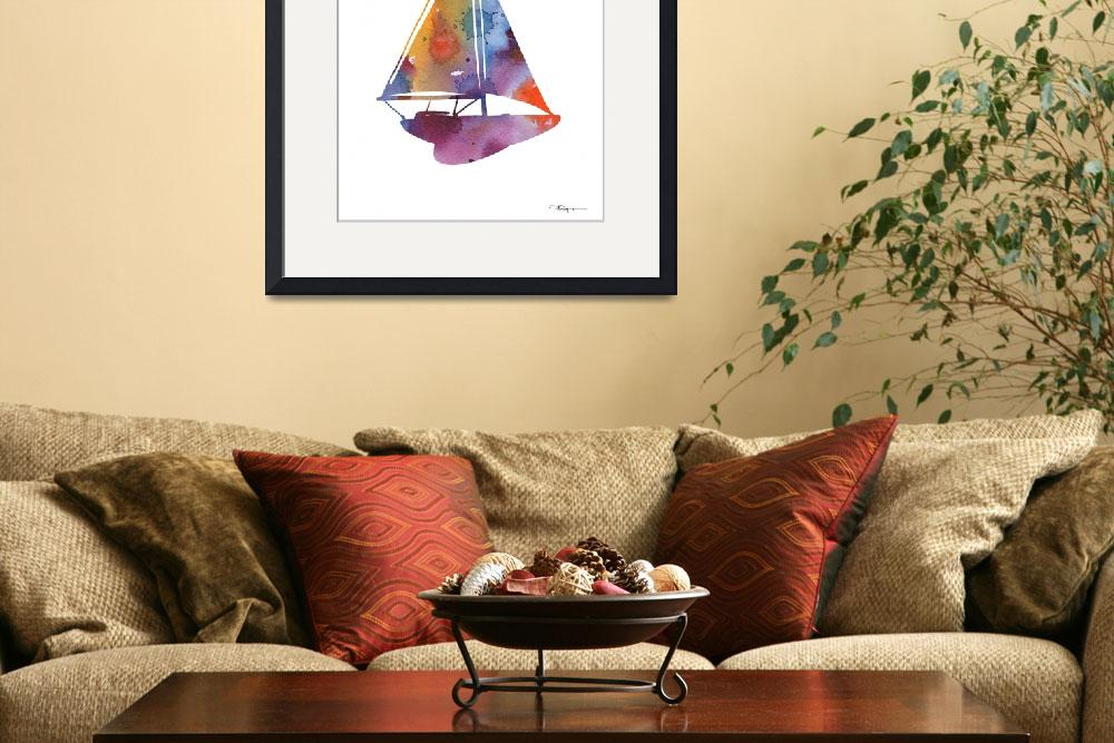 """Sailboat&quot  (2015) by k9artgallery"