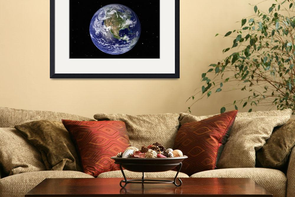"""""""Full Earth showing North America (with stars).""""  by stocktrekimages"""