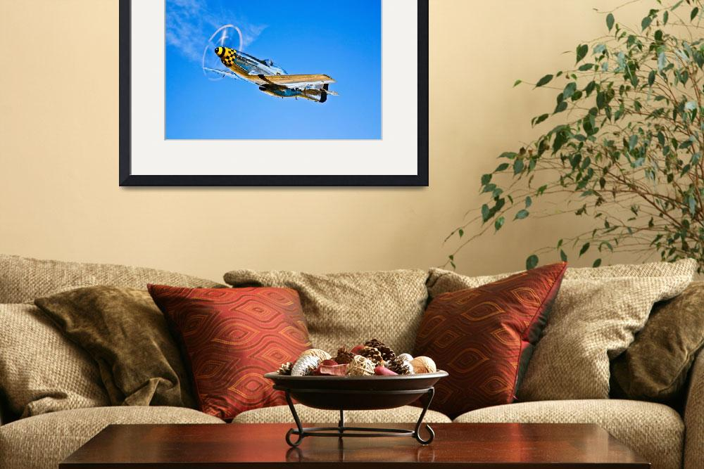 """A North American P-51D Mustang in flight near Chin&quot  by stocktrekimages"