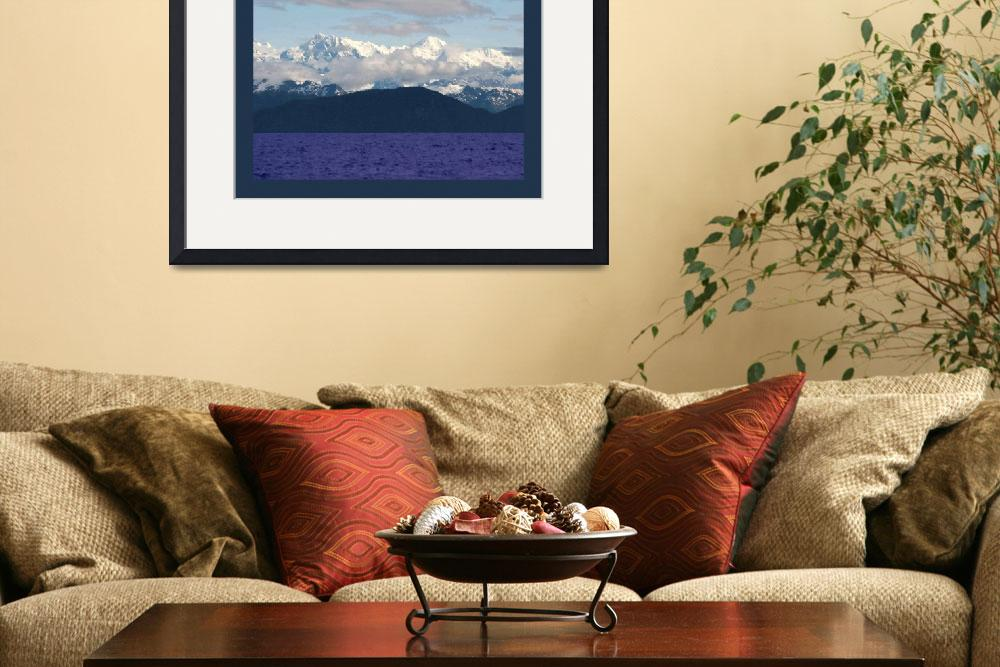 """""""Alaskan Mtns Near Valdez Arm with border&quot  (2013) by TheNorthernTerritory"""