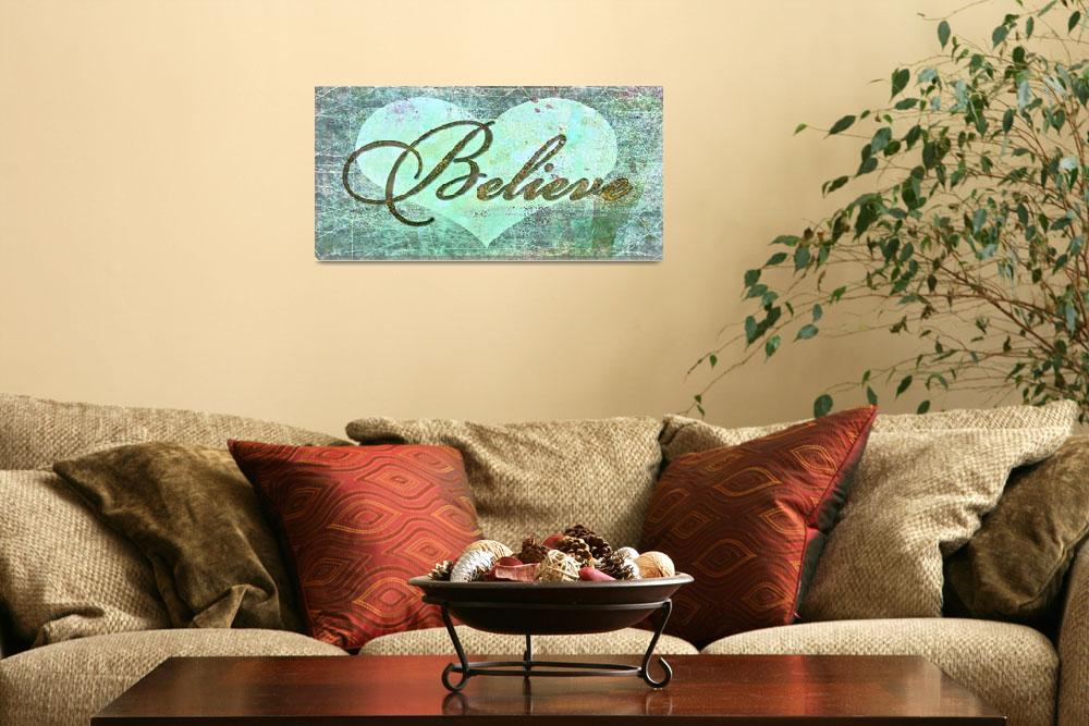 """""""believe teal heart""""  by lizmix"""