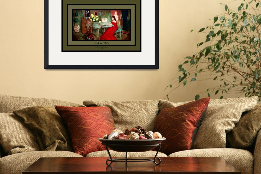 """""""Lady in Red 1&quot  by SherryHolderHunt"""