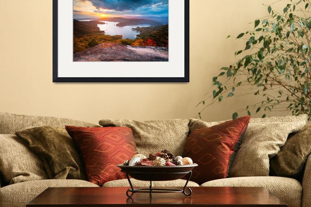 """Blue Ridge Mountains Sunset - Jocassee Gold&quot  (2012) by DAPhoto"