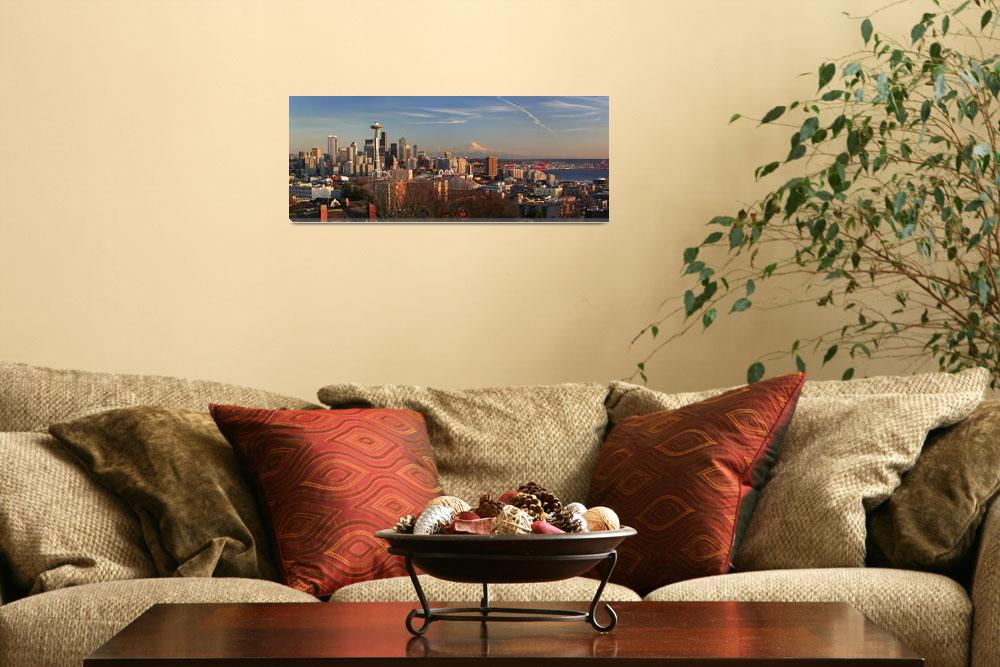"""""""Seattle Panorama&quot  (2006) by Inge-Johnsson"""