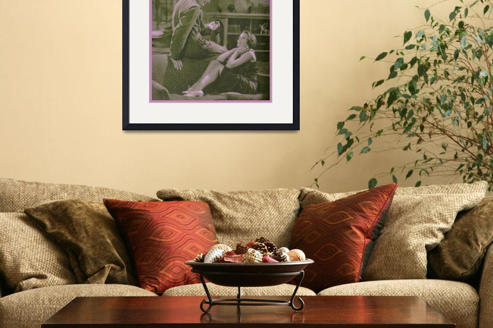"""1932 Couple on Love Seat (photographer unknown)&quot  (1932) by arcaniumantiques"