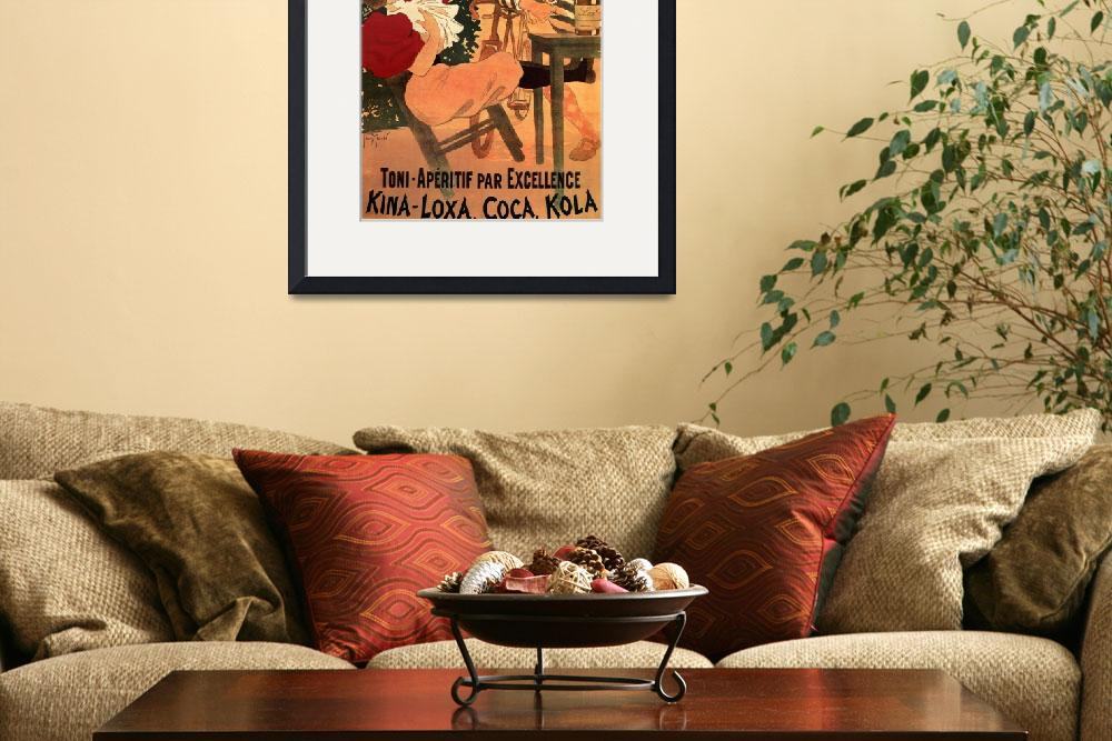 """Vintage Art Deco Poster Framed Print&quot  by buddakats1"