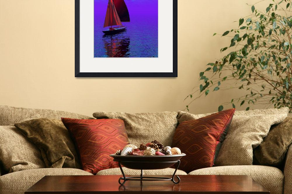 """""""Sailing Boat""""  (2012) by Icarusismart"""