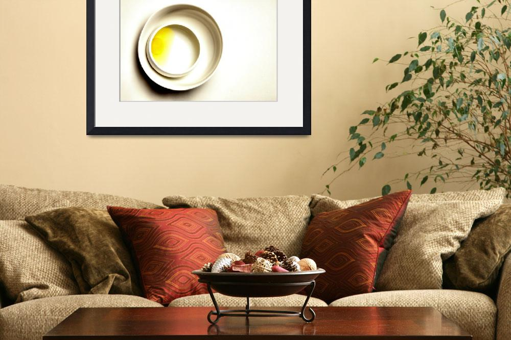 """""""Yellow Egg in White Bowls on White, Edit E&quot  (2011) by nawfalnur"""