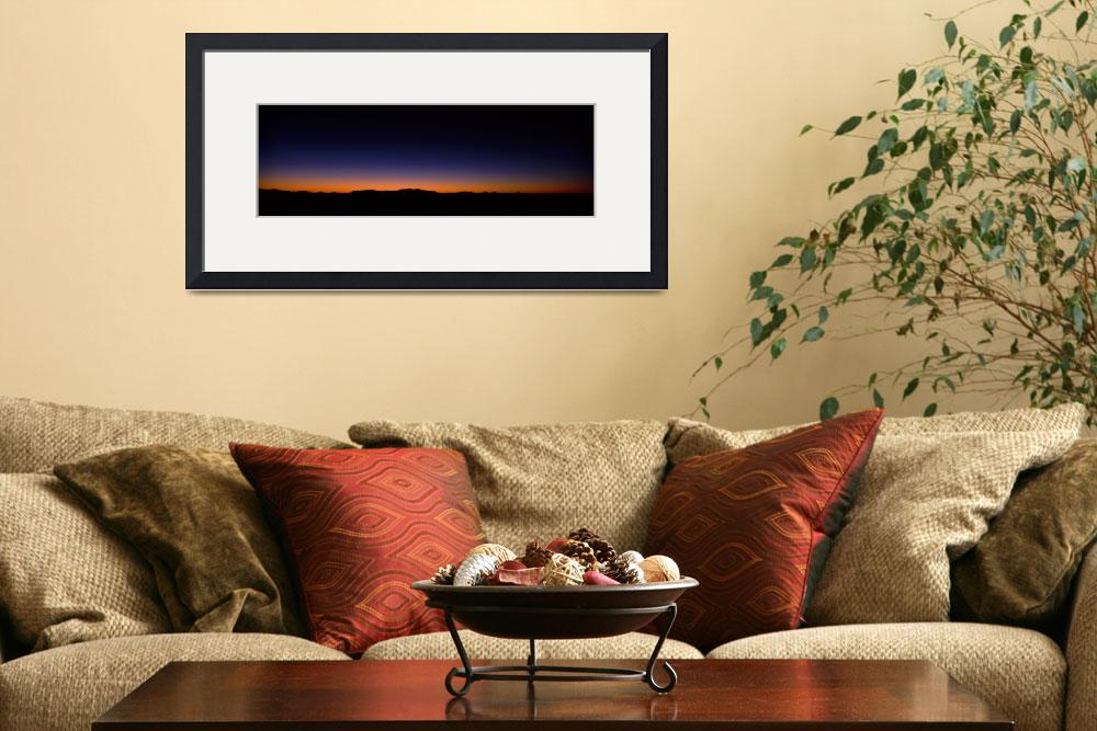 """""""Silhouette of a mountain range&quot  by Panoramic_Images"""