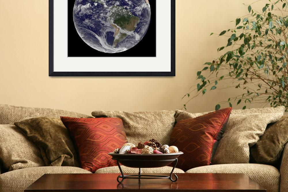 """Full Earth showing North America and South America&quot  by stocktrekimages"