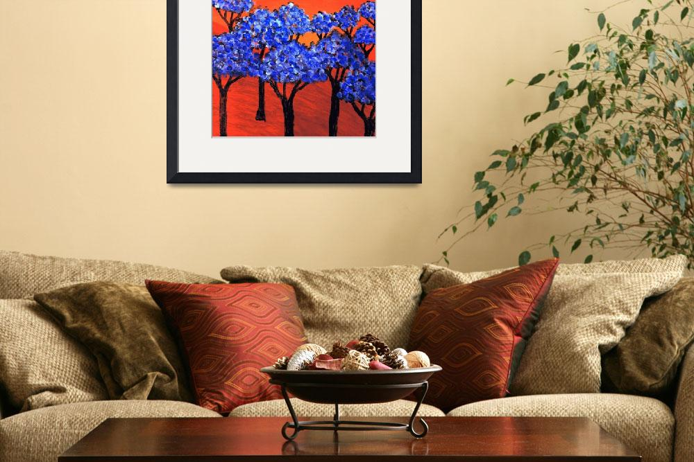 """""""Land of Blue Trees&quot  by rippleart"""