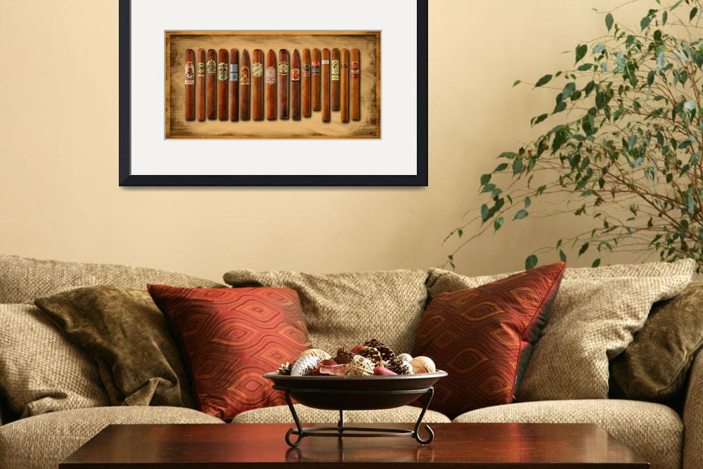"""""""Cigar Sampler Painting&quot  (2015) by RubinoFineArt"""