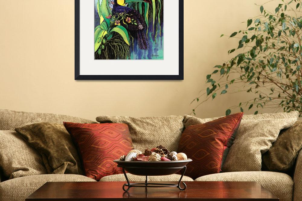 """""""Keel-billed Toucan and Black Orchid&quot  by savanna"""