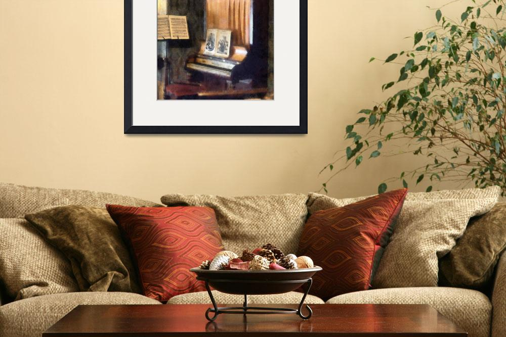 """""""Piano And Sheet Music On Stand&quot  by susansartgallery"""
