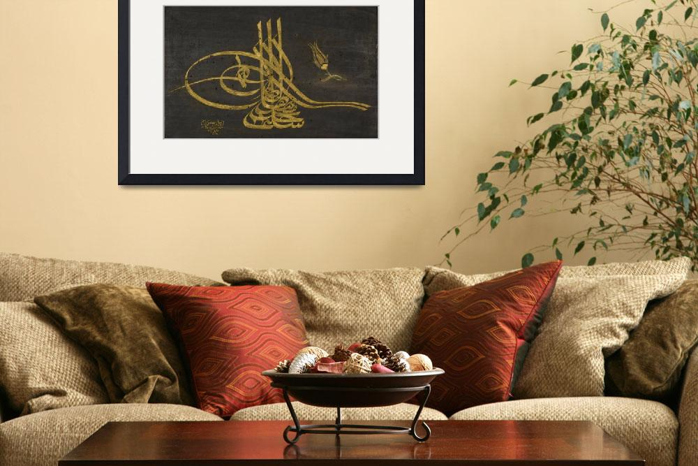"""""""A Framed Tughra of Sultan Selim III (r.1789-1807)&quot  by motionage"""