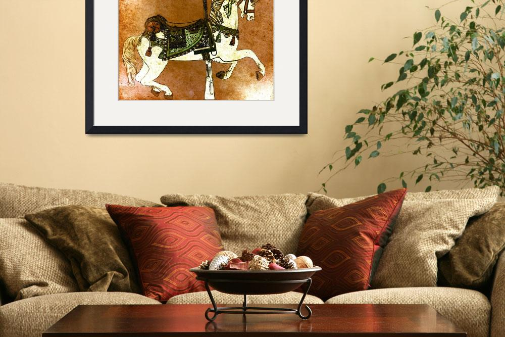"""""""Carousel Horse in Browns&quot  (2012) by psovart"""