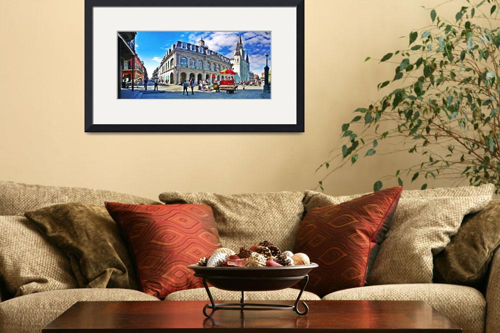 """Jackson Square Cabildo in French Quarter&quot  by kFergPhotos"