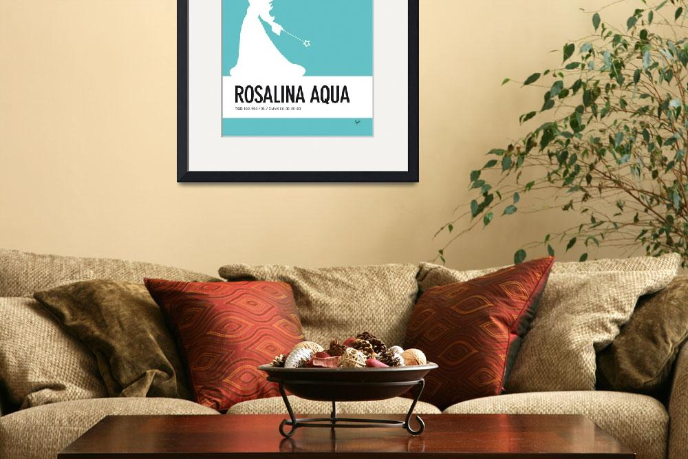 """No39 My Minimal Color Code poster Rosalina&quot  by Chungkong"