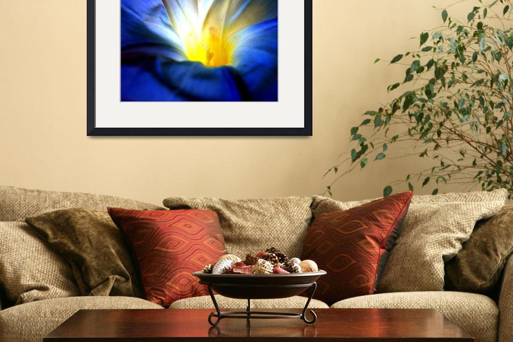 """""""Blue Flower Abstract&quot  (2008) by psovart"""