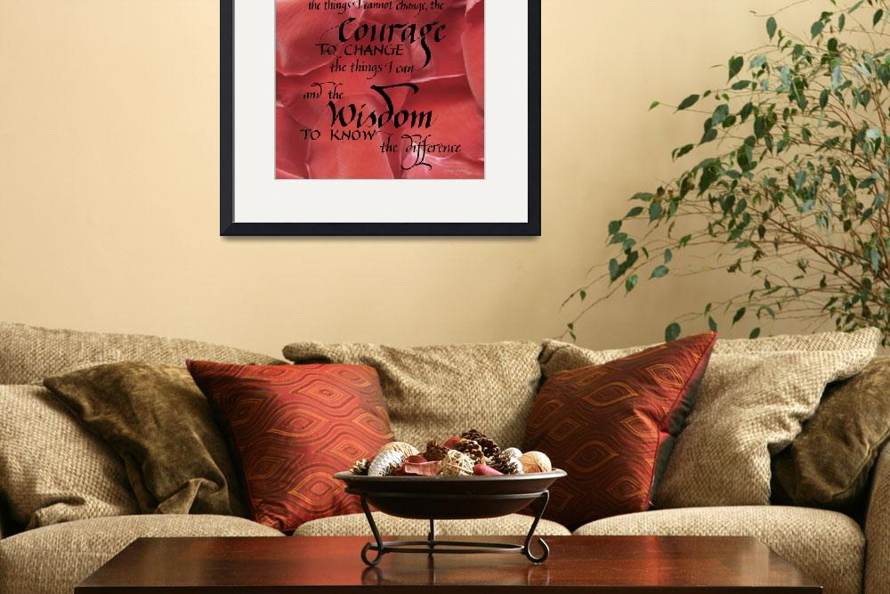 """""""Serenity Prayer - Contemporary&quot  (2012) by BeautifulCalligraphy"""