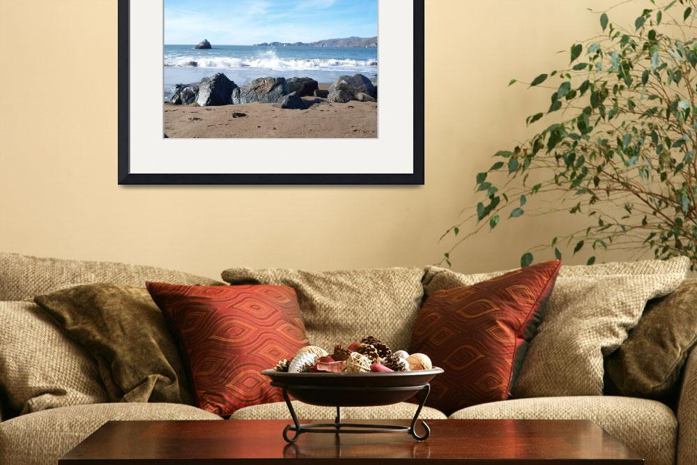 """""""From Behind Beach Rocks&quot  (2013) by photoartful"""
