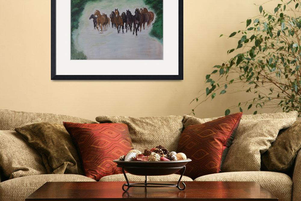 """Herd of horses in canter&quot  (2007) by kunst-grafik"