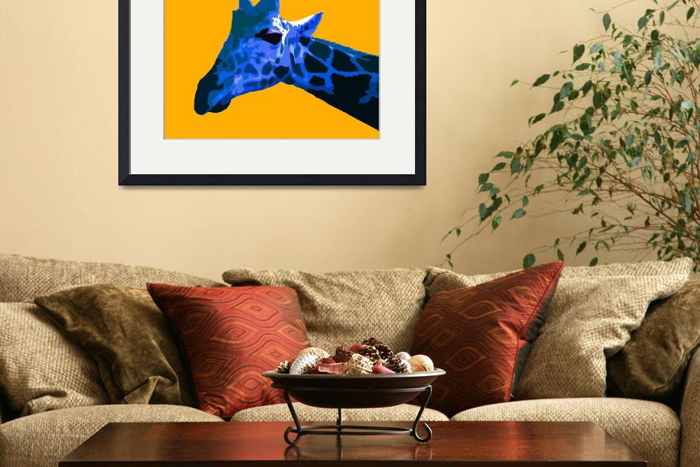 """Giraffe in Yellow World&quot  (2009) by whitewallgallery"