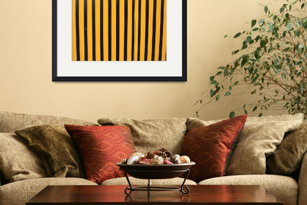 """Yellow and Black Stripes&quot  (2014) by rhamm"