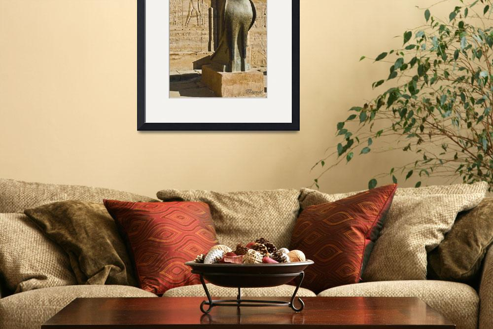 """""""Statue of the Egyptian god Horus&quot  (2010) by ChristopherByrd"""