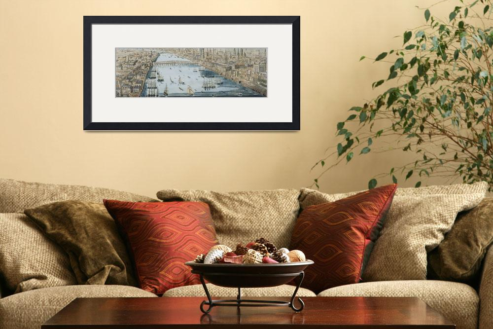 """""""A General View of the City of London and the River&quot  by fineartmasters"""