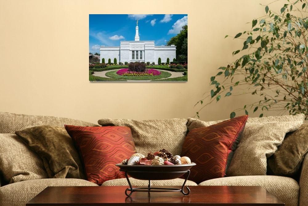 """""""Nashville Temple and Gardens&quot  (2014) by dbwalton"""