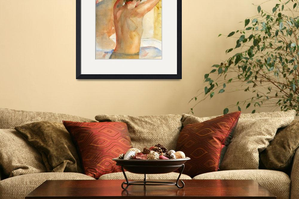 """Nude Female Art, The Bather""  (2008) by schulmanart"